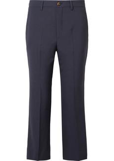 Miu Miu Cropped Wool-blend Crepe Flared Pants
