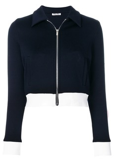 Miu Miu cropped zip jacket - Blue