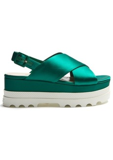 Miu Miu Crossover satin flatform sandals