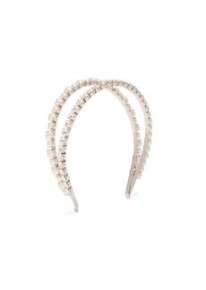 Miu Miu Crystal and faux pearl-embellished headband