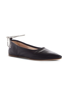Miu Miu Crystal Anklet Flat (Women)