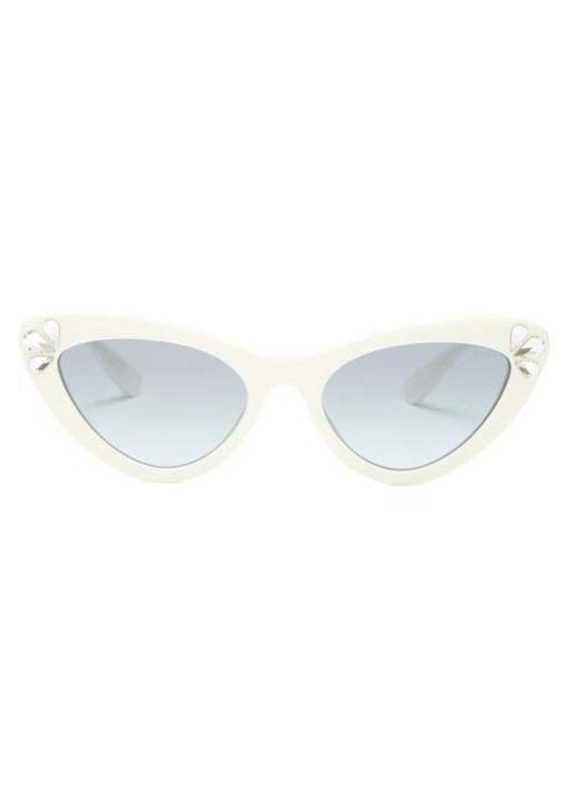Miu Miu Crystal cat-eye acetate sunglasses