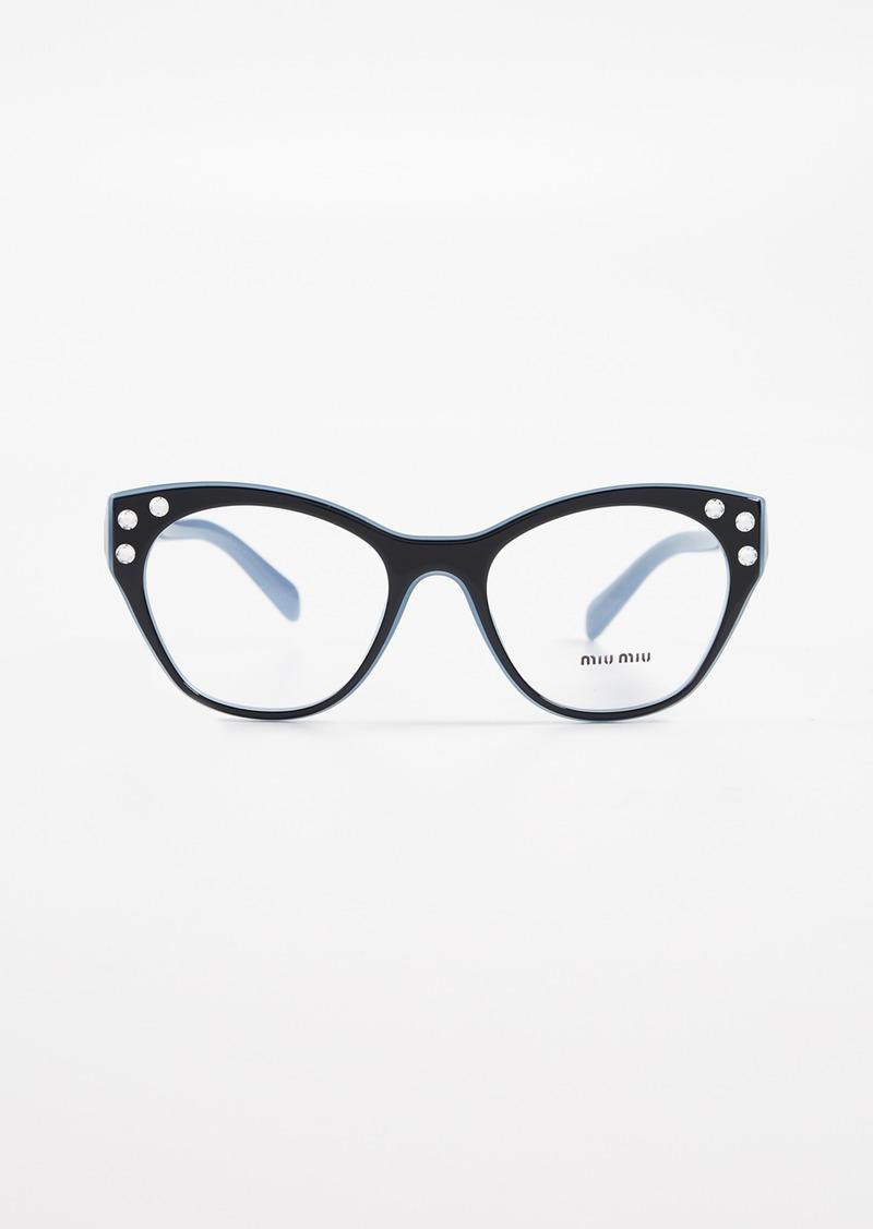 88c550b1eff Miu Miu Miu Miu Crystal Cat Eye Glasses