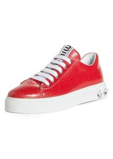 Miu Miu Crystal Detail Skate Sneaker (Women)