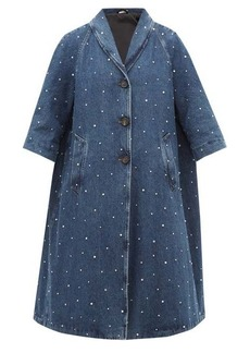 Miu Miu Crystal-embellished denim coat