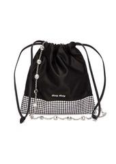 Miu Miu Crystal-embellished satin cross-body bag