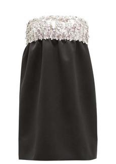 Miu Miu Crystal-embellished satin mini dress