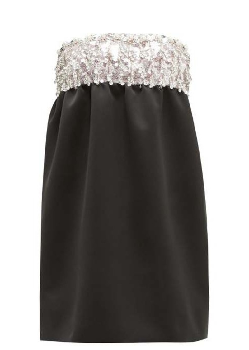 Miu Miu Crystal-embellished satin mini dress