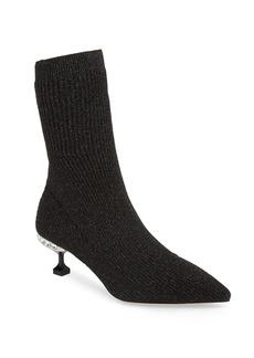 Miu Miu Crystal Embellished Sock Bootie (Women)