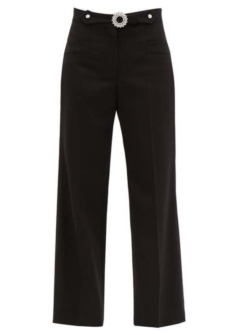 Miu Miu Crystal-embellished tailored wool-blend trousers