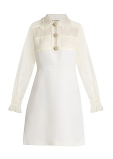 Miu Miu Crystal-embellished wool and silk dress