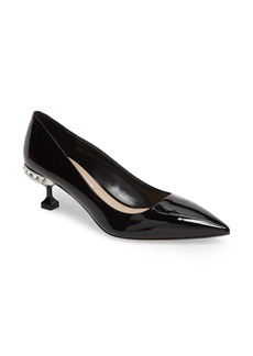Miu Miu Crystal Heel Pump (Women)
