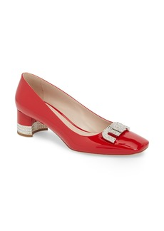 Miu Miu Crystal Logo Pump (Women)