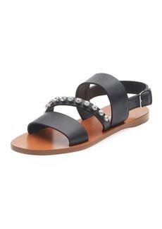 Miu Miu Crystal-Stud Flat Sandals