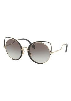 Miu Miu Cutout Cat-Eye Gradient Sunglasses