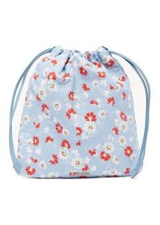 Miu Miu Daisy-print drawcord pouch