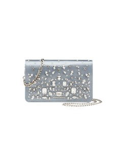 Miu Miu Delice Crystal-Embellished Wallet-on-Chain