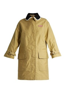 Miu Miu Detachable-collar cotton-drill parka