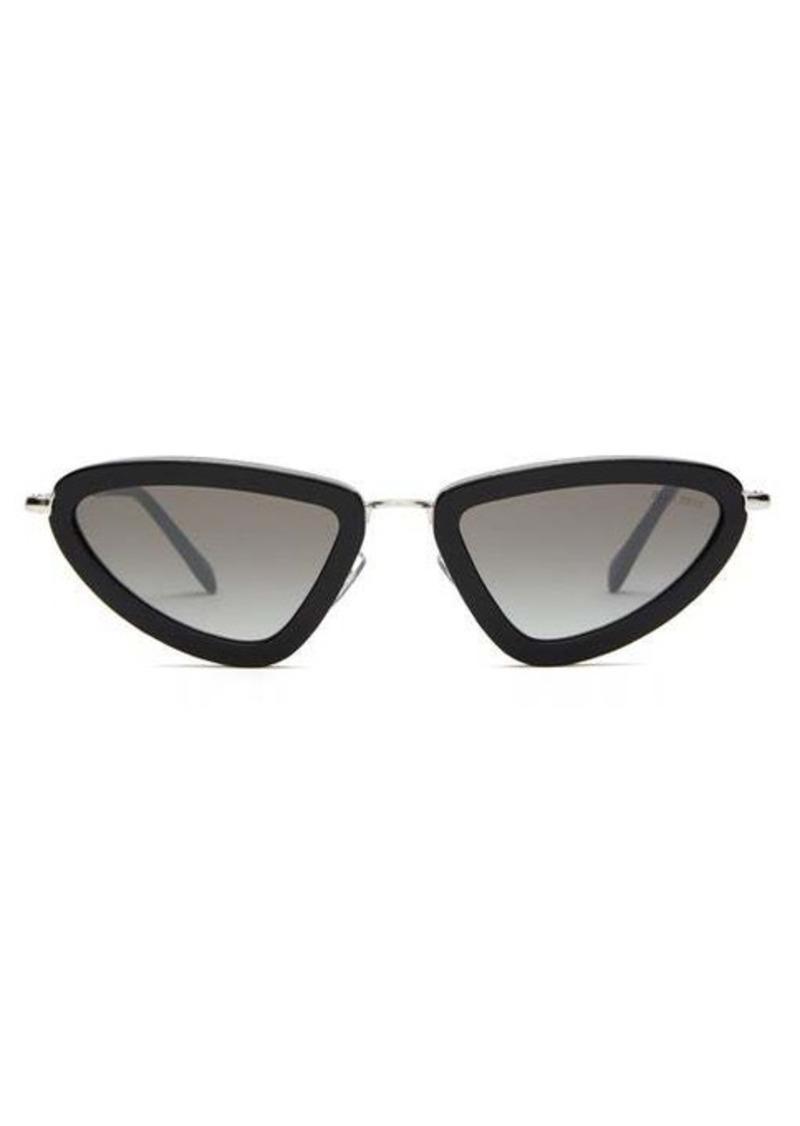 Miu Miu Délice cat-eye acetate and metal sunglasses