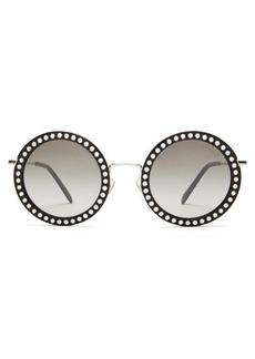 Miu Miu Délice studded round acetate sunglasses