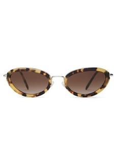 Miu Miu Délice tortoiseshell acetate oval sunglasses