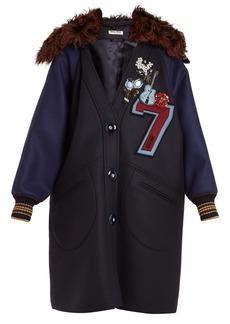 Miu Miu Embellished-appliqué wool coat