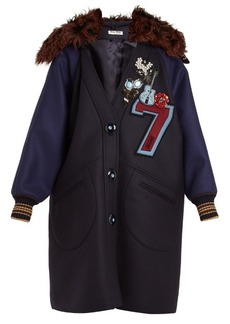 Miu Miu Embellished-appliqué wool coat