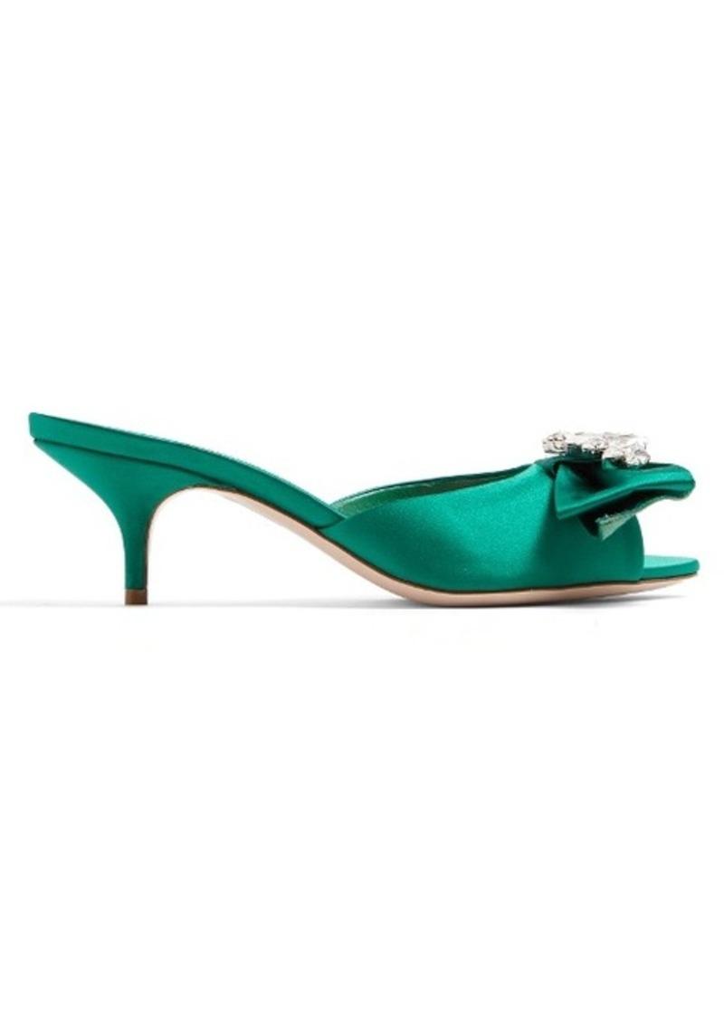 miu miu miu miu miu miu embelli bow mules | chaussures satin c6aa39