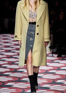 Miu Miu Embellished Button-Front Knit Skirt