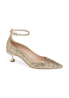 Miu Miu Embellished Halo Strap Glitter Pump (Women) (Nordstrom Exclusive)