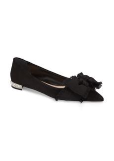 Miu Miu Embellished Heel Bow Flat (Women)