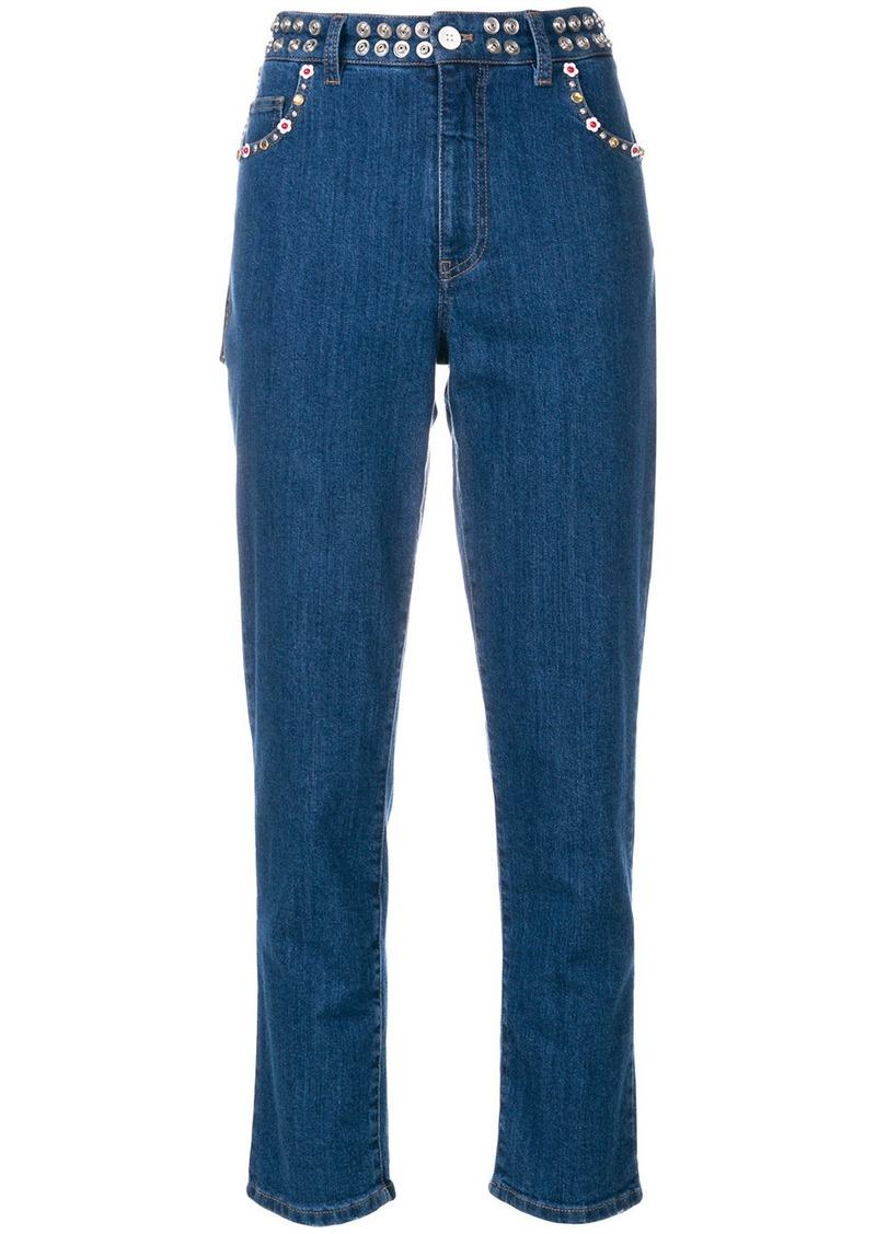 Miu Miu embellished jeans