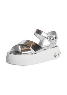 Miu Miu Embellished Platform Sandal (Women)