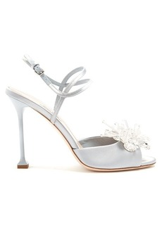 Miu Miu Embellished satin sandals