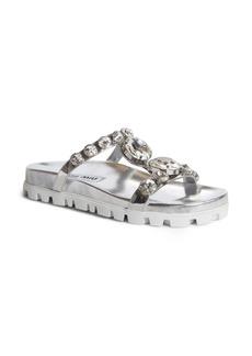 Miu Miu Embellished Slide Sandal (Women)