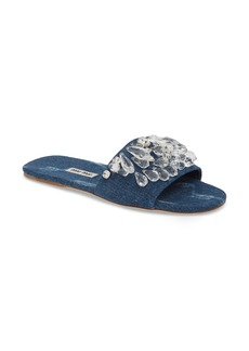 Miu Miu Embellished Slide Sandal (Women)
