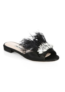 Miu Miu Embellished Slide Sandals