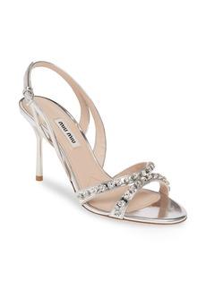 Miu Miu Embellished Slingback Sandal (Women)