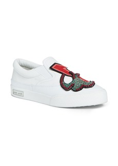 Miu Miu Embellished Slip-On Sneaker (Women)
