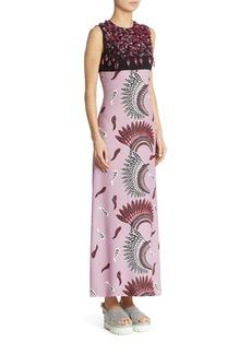 Miu Miu Embroidered Long Dress