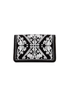 Miu Miu Embroidered Velvet Clutch Bag