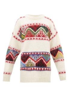 Miu Miu Fair-Isle alpaca sweater