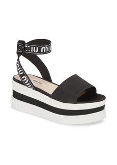 Miu Miu Flatform Logo Sandal (Women)