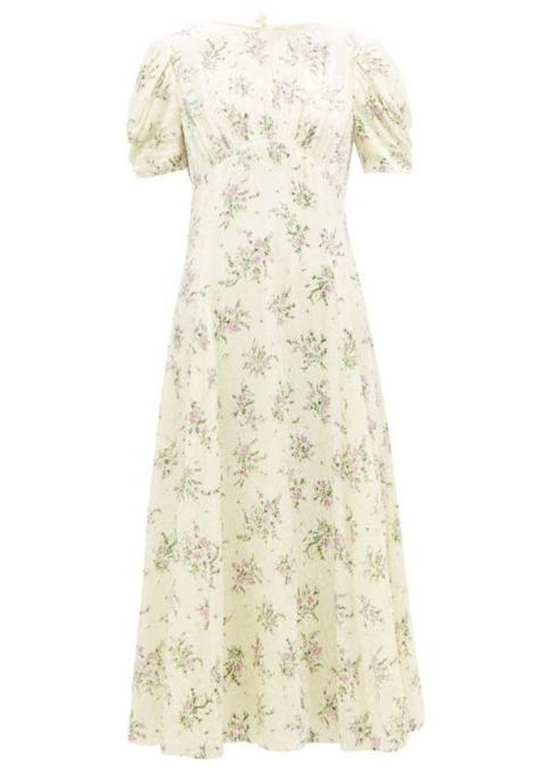 Miu Miu Floral crystal-embellished velvet dress