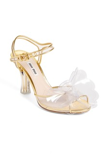 Miu Miu Floral Embellished Sandal (Women)