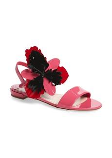 Miu Miu Floral Embellished Strappy Sandal (Women)