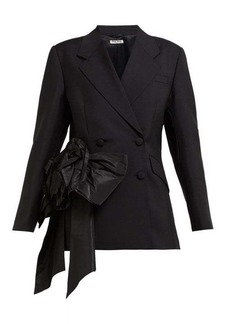 Miu Miu Floral organza mohair and wool-blend blazer