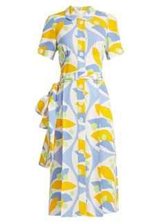 Miu Miu Floral-print crepe dress