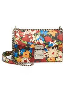 Miu Miu Floral Print Leather Crossbody Bag