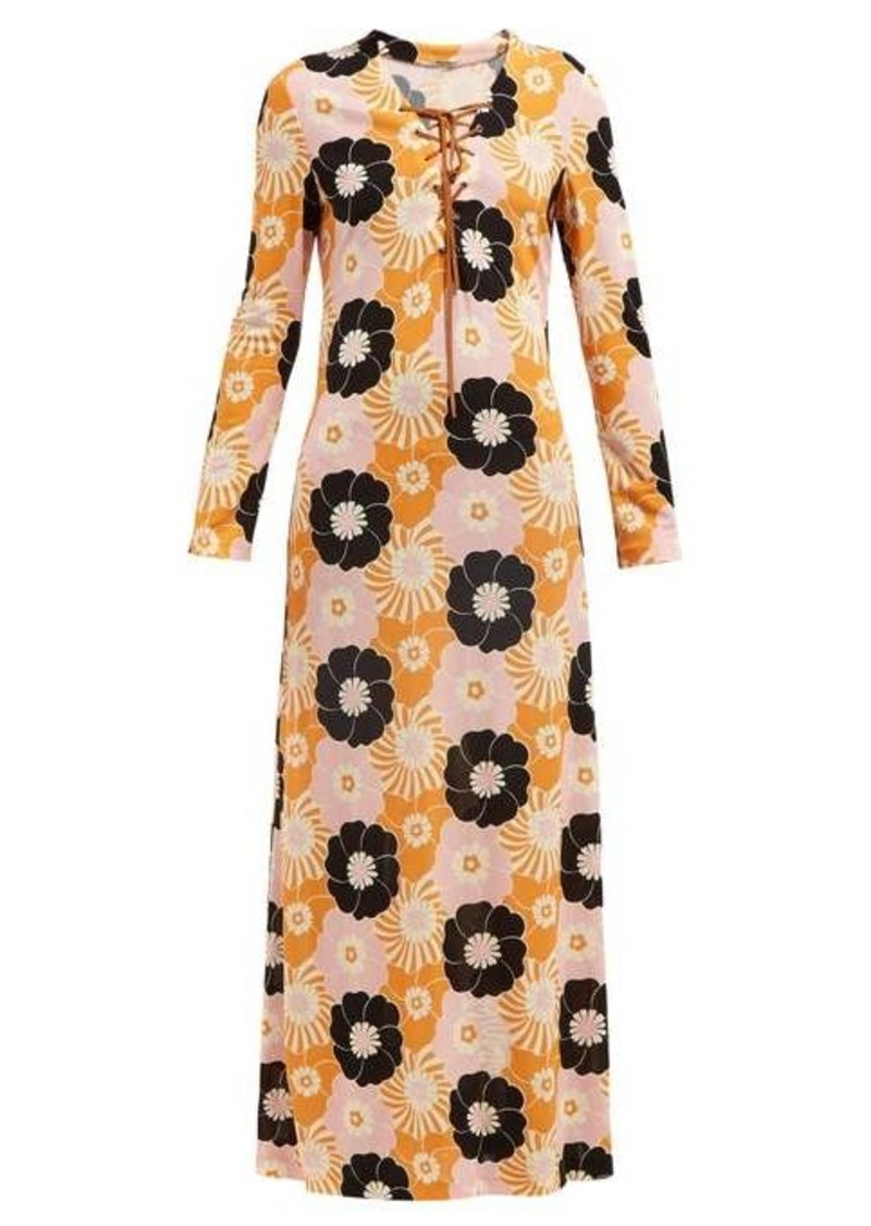 Miu Miu Floral-print side-slit maxi dress